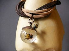 Spiked Spider Bracelet Made With Real Insect In Resin Orb. $100.00, via Etsy.
