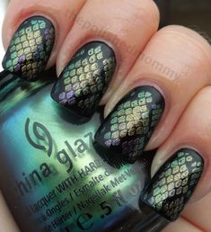 Snakeskin #nails . We suggest using China Glaze- Unpredictable to get this look!