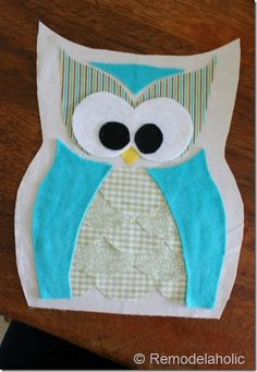 IMG_1547 (414x600) Owl Sewing Patterns, Pattern Sewing, Sewing Ideas, Quilt Patterns, Owl Pillow Pattern, Owl Quilts, Owl Bags, Owl Fabric, Felt Owls