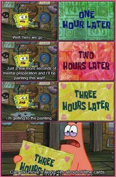Time Cards. Spongebob Square Pants