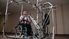 Wheelchair Fitness Solution | Smart training system for wheelchair users by Shaina Koren. Wheelchair Fitness Solution is the universal smart training system created for wheelchair users. This machine allows users to conduct a full workout regime using a patented harness and ramp for more stability and resistance.
