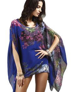 ec610db9ab Sexy Swimsuit Cover Ups Woman Beach Tops Sarong Wrap Skirt Chiffon Floral  Prints Beachwear Tunic Coverup