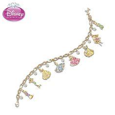 Disney Princess Crystal Charm Bracelet