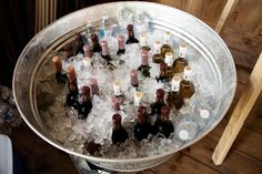 Wine or Beer in a galvanized steel tub ....country rustic wedding, beach casual, picnic barbeque.
