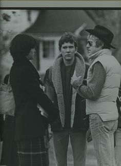 Timothy Hutton (with Robert Redford and Elizabeth McGovern during filming of Ordinary People)