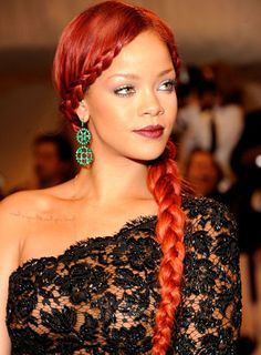 Leave it Rihanna to take the side braid trend to the next level.