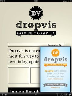Dropvis make your own infographics  A co-creation from Hans Heetman Adriaan Albers and Vincent de Wit
