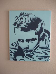 "James Dean II Graffiti Stencil Pop Art 16""x20"". $45.00, via Etsy."
