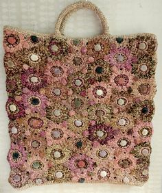 Large Raphia Tote - Rose   The French Needle   French Needlework Kits, Cross Stitch, Embroidery, Sophie Digard