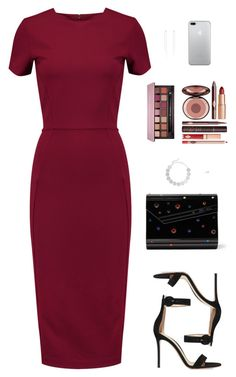 """Sin título #4463"" by mdmsb on Polyvore featuring moda, Iris & Ink, Gianvito Rossi, Jimmy Choo, Saskia Diez, Charlotte Tilbury y Anastasia Beverly Hills"