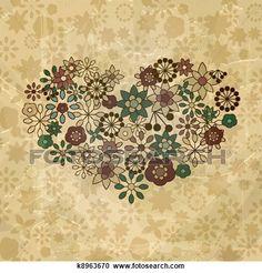 Banco de Ilustrações - vetorial, primavera, flores, organizado, em ...