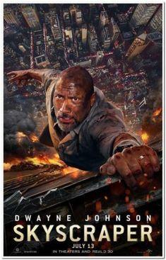 "V rámci série Die Hard a priatelia je tu Skyscraper s Dwaynom ""The Rockom"" Johnsonom. Paradzina. Pablo Schreiber, Neve Campbell, Dwayne Johnson, Rock Johnson, Hollywood Action Movies, Best Action Movies, Action Movie Poster, Marvel Movie Posters, In China"