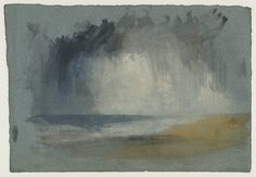 Joseph Mallord William Turner / Grey Clouds over the Sea / c.1835-40 / Gouache and watercolour on paper