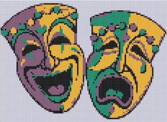 Looking for your next project? You're going to love Mardi Gras Masks Cross Stitch Pattern  by designer Motherbeedesigns. - via @Craftsy