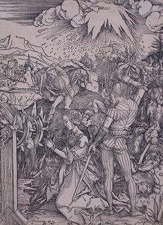 D'après Albrecht Dürer (1471-1528) - La Décolation de sainte [...], Vente pas courante : Arts premiers > Dessins, multiples & tableaux > Petit mobilier & design > Bijoux & montres à FauveParis