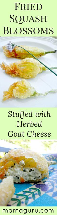 Fried Squash Blossoms | Goat Cheese Recipe | Zucchini Recipe | Vegetarian Recipe | Appetizer