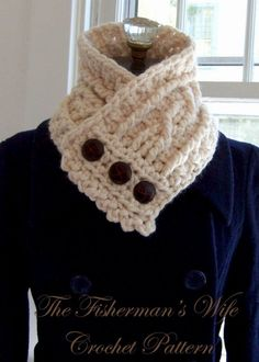 This listing is for a pdf file pattern NOT the actual Neck Warmer!! Weather the storm with this feminine version of the Fisherman's Wool sweater. Soft and plush, this is the perfect accessory for the cold, harsh winter months. Wear over a sleek black turtleneck or under a classic