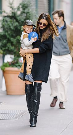 Miranda Kerr and son Flynn are probably one of our most favourite style duo's. This snap with Flynn's cheeky grin and THOSE BOOTS…..!