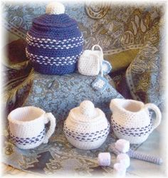 Crochet Tea Set PDF Pattern by KTBdesigns on Etsy, $5.00