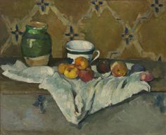 Paul Cézanne (French, 1839–1906). Still Life with Jar, Cup, and Apples, ca. 1877. The Metropolitan Museum of Art, New York.H. O. Havemeyer Collection, Bequest of Mrs. H. O. Havemeyer, 1929 (29.100.66)