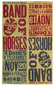 Band Of Horses by  Hatch Show Print