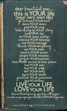 Cherish your life and live without fear or worry. Embrace every precious moment - the happiness and sadness, pain and ecstasy. Think critically about your responsibility for self and others. Maintain a serene countenance regardless of your inner turmoil. These attitudes will serve to enrich, comfort and protect during challenging times. ❤️☀️