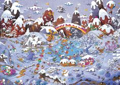 Mordillo, Winterland Cartoons Jigsaw Puzzle.  $65.99 3000 pieces.  Released 2013.  Artist: Guillermo Mordillo.  Manufacturer:  Heye.   Mfg. Part Number: 78-29567. UPC: 4001689295677 Item number: 71530 Adult puzzle