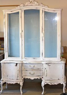 I would love to find a fabulous French style hutch like this one to paint!