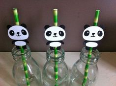 panda party on Etsy, a global handmade and vintage marketplace. Panda Themed Party, Panda Birthday Party, Panda Party, Baby Birthday, Birthday Party Themes, Party Animals, Animal Party, Panda Decorations, Panda Baby Showers