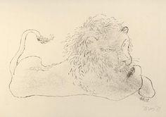Frantisek Tichy, Lion Bobby,1938 dry-point , Czech Rep. Bobby, Lion, Artist, Animaux, Leo, Artists, Lions