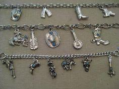 Un Worn Vintage Western Charm Bracelets CHOOSE No 1 OR Or 2 OR
