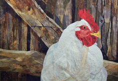 Amazing rooster quilt! -- Taking crafty into the realm of fine art.  David Taylor Quilts | Steamboat Springs, Colorado