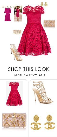 Elegance by niclakoll on Polyvore featuring moda, Ted Baker, Sergio Rossi, Dolce&Gabbana, EF Collection, Chanel and Gucci