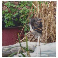 Peek-a-Boo Cloth Napkin - cat cats kitten kitty pet love pussy