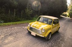Mini Cooper classic yellow-wish you were mine