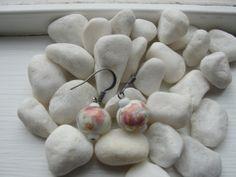 Ceramic Floral Earrings by ZaZaJewels on Etsy, $12.00