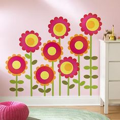 Super cute for Maddie's room and her walls are about this color.