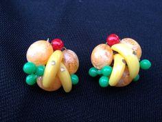 Vintage Fruit Earrings