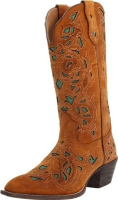 2438b885e3d Laredo Womens Crazy Horse Cut Out Cowboy Boot Brown 75 BM US -- Check this  awesome product by going to the link at the image.