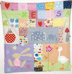 Babydecken - Spieldecke Größe M / ca. 90 x 90 cm - ein Designerstück von der_naehbaer bei DaWanda