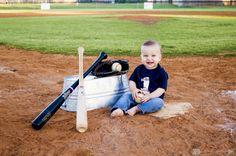 First birthday photos! Baseball theme - Alexis Hines Photography