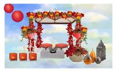 Hindu wedding ceremony by jenny-drossou on Polyvore featuring art