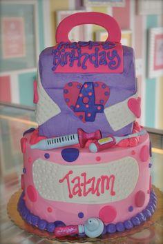 Dr McStuffins Birthday Cake  www.leahssweettreats.com