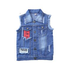 Victory! Check out my new Stylish Frayed Appliqued Wing Denim Vest in Blue for Boy, snagged at a crazy discounted price with the PatPat app.