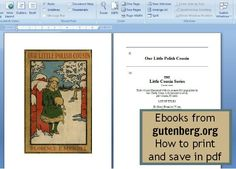 how to save free Ebooks from Gutenberg