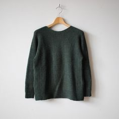 PO knit M wool95% cotton5% #dark green