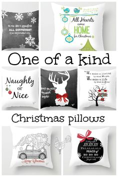 One of a kind pillows, prints and canvas bags I create for Christmas. Subway art,silhouette, fun, poems, chalkboard and more.