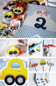 New Party Themes For Kids Toddlers Baby Shower 62 Ideas Birthday Themes For Boys, Party Themes For Boys, Car Themes, 2nd Birthday, Car Themed Parties, Cars Birthday Parties, Birthday Crafts, Transportation Birthday, Baby Shower