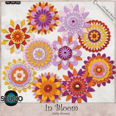 In Bloom Feltie Flowers by Mad Genius Designs  #digiscrap #theStudio