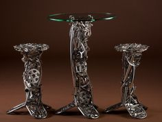 Enclave Table and Stools